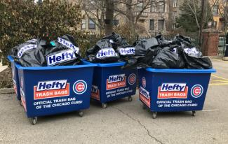 THE CHICAGO CUBS AND HEFTY TRASH BAGS