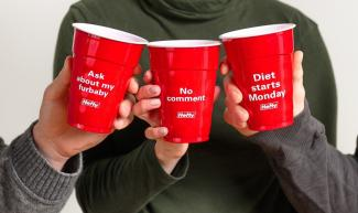 Hefty Party Cups with Fun Sayings 2019